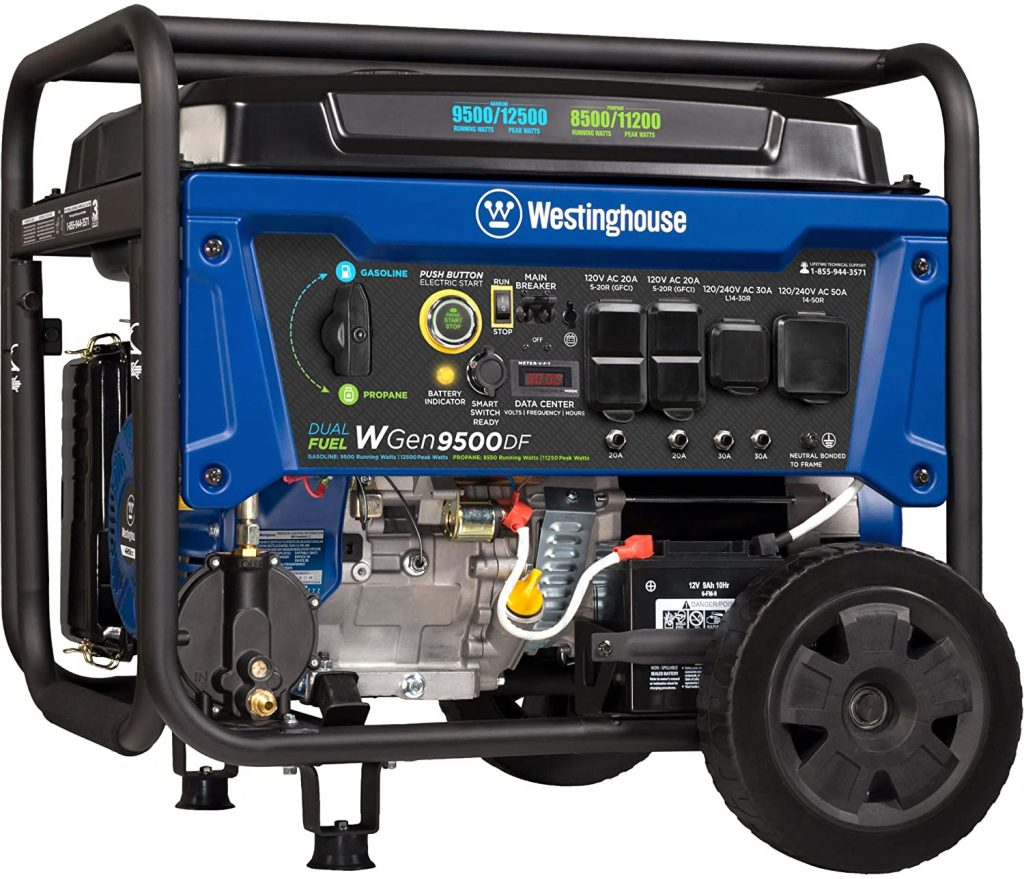 Westinghouse-WGen9500DF-Dual-Fuel-Portable